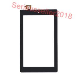 Wholesale kindle fires - 20Pcs Black For Amazon Kindle Fire 7 Fire7 (2017 Version) Touch Screen Digitizer Panel Outer Glass Sensor DHL Free