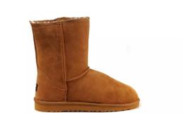 2019 Winter New Australia Classic stivali da neve vera leat inverno Stivali al ginocchio moda sconto Stivaletti scarpe molti colori per donna taglia 5-10 supplier discount snow boot da scarpone da neve sconto fornitori