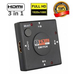 Hdmi spegne l'audio online-Switch HDMI 3 in 1 1080P 3 Port HDMI HDMI 1.3b out Adattatore per switch video / audio