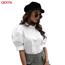 30abe70ce6d6a0 summer tunics tops 2019 - OOTN White Tunic Blouses Women Ruffled Shirts  Female 2018 Summer Spring