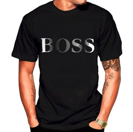 Wholesale Loose T Shirts - Boss printed Cotton Loose Tops Funny Pattern Men's Fashion Short Sleeves Round Neck Casual Personality Pullover boss Printed T-shirt D20