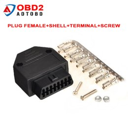 Wholesale Daewoo Diagnostic Tool - OBD2 OBD II OBD 2 16 Pin Connector Female Diagnostic Tool Connector Plug+Shell+Terminal+Screw Diagnostic-tool For daewoo