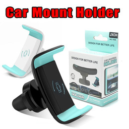 Wholesale safe wholesalers - Car Mount Phone Holder Air Vent 360 Degree Rotate Mount Cellphone Grip Safer Driving For iP X 8 6 inch Universal Phone with retail package