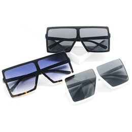 Wholesale Face Shapes Glasses - Square Shape Retro Sun Glasses For Men And Women Big Frame Fashion Sunglasses Suit Many Face Popular Vintage Eyeglasses Hot Sale 9wm Z