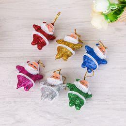 2019 niedliche mini-puppen anhänger Weihnachten Mini Weihnachtsmann Puppe Glitzernde Pailletten Niedliche Anhänger Emulation Lebensechte Weihnachtsbaum Kunststoff Hängende Verzierung 1 4yh hh rabatt niedliche mini-puppen anhänger