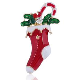 Broche de boneco de neve de natal on-line-Alta Qualidade de Natal Presente de Natal pinos broche de liga de árvore De Natal meia boneco de neve Papai Noel jingle sinos broche charme jóias para crianças presente