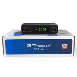 atualização de caixa de tv android Desconto Freesat GTMEDIA V7S HD FTA Receptor de TV Digital via Satélite DVB-S2 / S Suporte BissKey 1080 P Atualização De V7 Receptor Digital HD