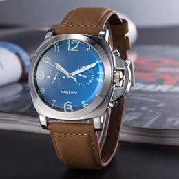 Wholesale bronze hand - HOT Men Mechanical Stainless Steeldial Watch Men PU Leather Dive AAA Wristwatch Free Shipping