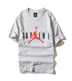 Wholesale T Shirts Styles For Men - 2018 new spring and summer AJ the same style short sleeved silhouette printing basketball for young lovers short sleeved t-shirts