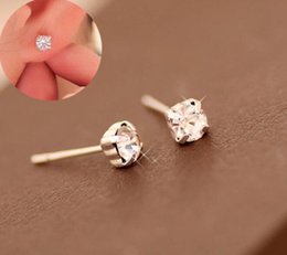 корейские ювелирные изделия из платины Скидка Корейская версия flash Алмаз ювелирные изделия Оптовая серьги платины Алмаз Кристалл драгоценный камень серьги бесплатная доставка коготь