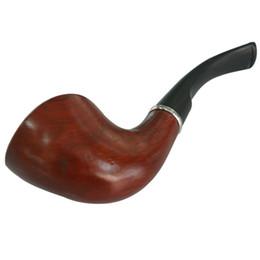 Hastes de cigarro on-line-1 peça de varejo de cor vermelha De Madeira De Acrílico Tubulação De Fumar Destacável erva Tubo de tabaco com filtro saudável fumaça cigarro tempero titular haste