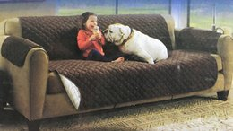 Wholesale Protector Furniture - Couch Coat Reversible Sofa Cover Long Reversible Sofa Slipcover Water Scratch Resistant Sofa Protector Cover Dropshipping Cushion Mat