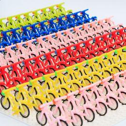 Wholesale Accessories For Motorbikes - City Figure Mini Bicycle Bike Building Blocks Cartoon Action Figure Motorbike Accessories Bricks Toy For Children Compatible Major Brands