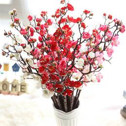2019 vasi da tavola di fiori artificiali Fiori artificiali Cherry Blossom 10 Pezzi / lottp (60 cm Altezza) Home Table Vaso Ufficio Decorazione Matrimonio Fiore Festa MW36856 vasi da tavola di fiori artificiali economici