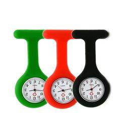 clip de relógio de enfermeira de bolso Desconto Assista Enfermeira Senhoras Cores Digital Relógio De Broche De Quartzo Presente De Natal Enfermeira Médica relógio Silicone Clipe De Bolso Relógios