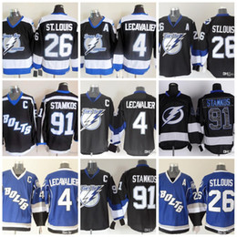 Wholesale Orange Bay - Tampa Bay Lightning Ice Hockey Jerseys Mens 91 Steven Stamkos 26 Martin St. Louis 4 Lecavalier Prime Hockey Jersey Stitched