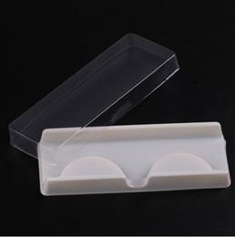 2019 empaque de pestañas Caja de embalaje para pestañas en blanco pestañas envases de plástico tapa transparente bandeja blanca ventas al por mayor 100 sets / lote empaque de pestañas baratos