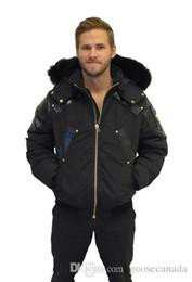 Wholesale Mens Bomber Jacket Fur - Brand Mens Homme Winter Jassen Gold Bomber Chaquetas Outerwear Big Fur Hooded Fourrure Manteau Goose Down Jacket Coat Hiver Doudoune