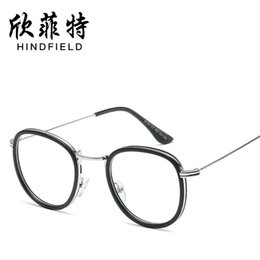 458ec9bd30 2018 Promotion Solid Eyeglasses New Flat Light Mirror Han Edition Students  Glasses Metal Round Frame And General Retro Glasses.