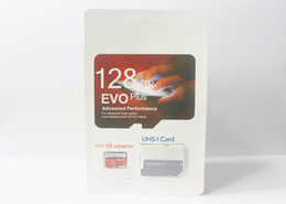 Wholesale Uhs Sd - 50 pcs EVO Plus 32GB 64GB 128GB Class10 UHS-1 Micro TF SD Card for Android Powered Tablet PC Digital SmartPhones Up 80MB s EVO+