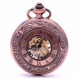 502582fc1f4 Antiguidade Mens Womens Skeleton Engrenagens Vento Mão Mecânica Pocket  Watch Numerais Romanos Caso 35 CM Cadeia De Bolso relogio de bolso