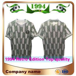 Pantalones cortos de fútbol uniformes online-1994 Retro Edition Nigeria Soccer Jersey 9 Starboy Camiseta de fútbol Okechukwu Dayo Ojo Osas Okoro Classic Uniformes de fútbol de manga corta