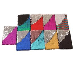 Wholesale business memos - 10styles Sequin Mermaid Paper Memo Notepads Journal business Portable Office Notebook Mermaid Notepad School dairy notebook FFA504 30PCS