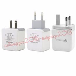 Быстрое адаптивное зарядное устройство QC 3.0 5V 2.4 A 9V 1.8 A 12V 1.5 A Eu US Uk AC home wall charger адаптер питания для ipad iphone samsung s7 s8 от