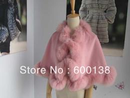 розовое кашемировое пончо Скидка Free shipping little girl age6-9 twisted  fur trim baby pink cashmere poncho