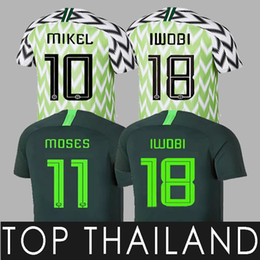 Argentina 18 19 Nigeria Soccer Jerseys IWOBI SHEHU Home reen Man MIKEL AHMED 7 2018 Copa del mundo Camisetas uniformes de fútbol de Nigeria Camisetas cheap lighting fields Suministro