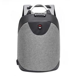 Mochila masculina online-ABDB 15.6 pulgadas Portátil mochila hombres Mochila impermeable Casual Viaje de negocios USB Back pack Masculino Bolsa antirrobo Regalo