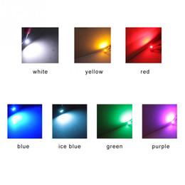Panneau smd rouge bleu en Ligne-10 Pcs DC12V 0.2 W Ampoule Indicateur T3 LED 3528 SMD Jauges De Cluster De Voiture Tableau De Bord Instrument Tableau Côté Allumer La Lampe