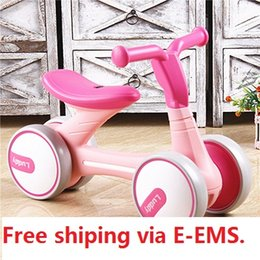 Wholesale Plastic Baby Walker - Brand Children Balance Bikes Scooter Baby Walker Infant 1-3years Scooter No Foot Pedal Driving Bike Gift for Infant four wheel 02