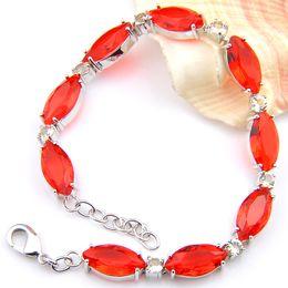 Wholesale Platinum Movie - 3PCS   LOT Luckyshine Women Jewelry Horse eye Red Quartz Gemstone Platinum Plated Plated Bracelet Wedding Party Gifts