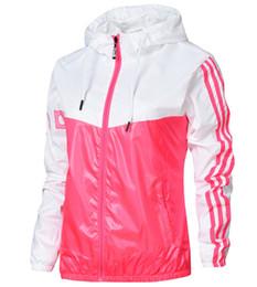 Wholesale hooded jackets for women - Designer Jackets 2018 Stylish Luxury Jackets New Fashion Brand Tide Women Jacket Casual Sport Outdoor Windbreak for Women M-2XL