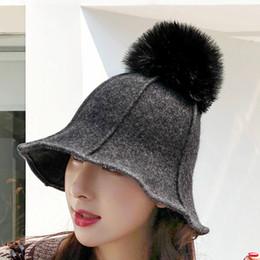 2019 sombrero de fieltro de invierno 2018 Otoño Invierno Mujeres Elegante  Lana de Fieltro Campaniform Hat 6e1eadb9932