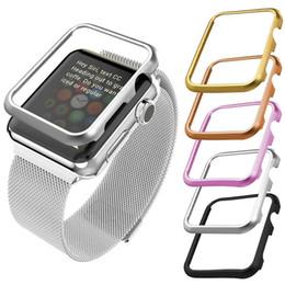Lujo reloj de aleación de metal caso completo para Apple Watch Band 42 mm 38 mm iWatch Serise 3 2 1 marco de aluminio reloj cubierta protectora desde fabricantes