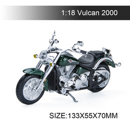 Wholesale diecast bicycles - 1:18 Motorcycle Models Vulcan model bike Base Diecast Moto Children Toy For Gift Collection
