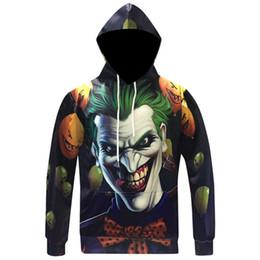 Felpe con cappuccio da uomo Hip Hop colorato stampato zucca Joker Male sorridente con cappuccio 3D Felpa manica lunga maschile Survetement Homme da