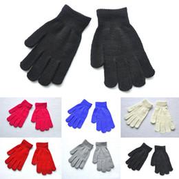 regali ragazze di scuola superiore Sconti Junior High School Studenti Inverno caldo guanto di colore solido guanti a maglia 6 colori per ragazza ragazzo regalo di natale H925Q