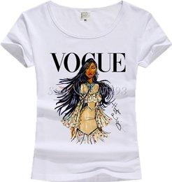 Wholesale Girls Princess Tee Shirts - New Casual T-shirt Vintage Print Women T shirt 2017 Vogue Cotton Short Sleeve Tops Female Tees Shirts Princess Girl JV01