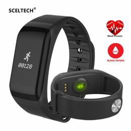 Relógio de pulso f1 on-line-F1 Smartband Heart Rate Monitore Pulseira Inteligente Pulseira Saúde Relógio de Pulso Chamada Alarme de Vibração Para Xiaomi telefone