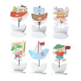 Wholesale name card stand holder - Wood Name Note Card Holder Photo Clip Stand Office Supply Multicolor Pirate 24.0cm x 21.0cm,1 Box(Approx 12PCs) 2015 new