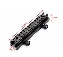 Montanti di riser online-Rastrelliera a scomparsa trasparente da 13 pollici ad altezza 13,5 pollici tattile per montaggio su tessitore da 20 mm / rotaie Picatinny