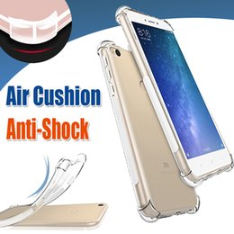 Wholesale Chinese Cushions Covers - Air Cushion Shockproof Thin Slim Transparent Clear Crystal Soft TPU Cover Case For iPhone X 8 7 Xiaomi 6 Plus Note 3 Mix 2 5X 5S Redmi 5A