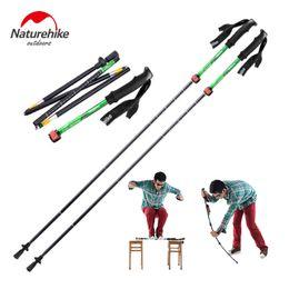 Wholesale Carbon Canes - 1PCS NatureHike Ultra-light EVA Handle 5-Section Adjustable Canes Walking Sticks Trekking Pole Alpenstock For Outdoor