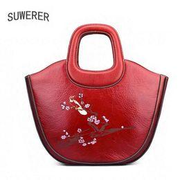 2019 bolsos de la marca china SUWERER nuevas bolsas de cuero genuino para mujeres bolsas de bolsos de lujo bolsos de diseñador de estilo chino marcas famosas rebajas bolsos de la marca china