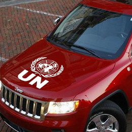Wholesale volvo stickers - Reflective un the United Nations logo car door decoration stickers for volkswagen volvo and so on