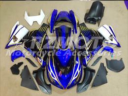 Wholesale White Zx14r - 3 Free gifts New ABS bike Fairing Kits 100% Fitment For Kawasaki Ninja ZX14R 2006 2009 2011 10R 06 07 08 09 10 06-11 Blue Black V5