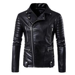 Wholesale Solid Hd - HD-DST 2017 Men's Locomotive Leather Jacket Hot sale Fashion Casual Multi-zipper Design Leather Jacket